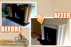 Cabinteely fireplace respray