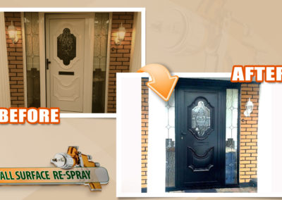 PVC front door black respray