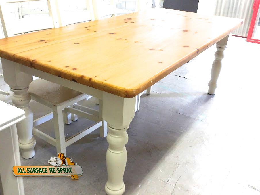 Spray paint kitchen table
