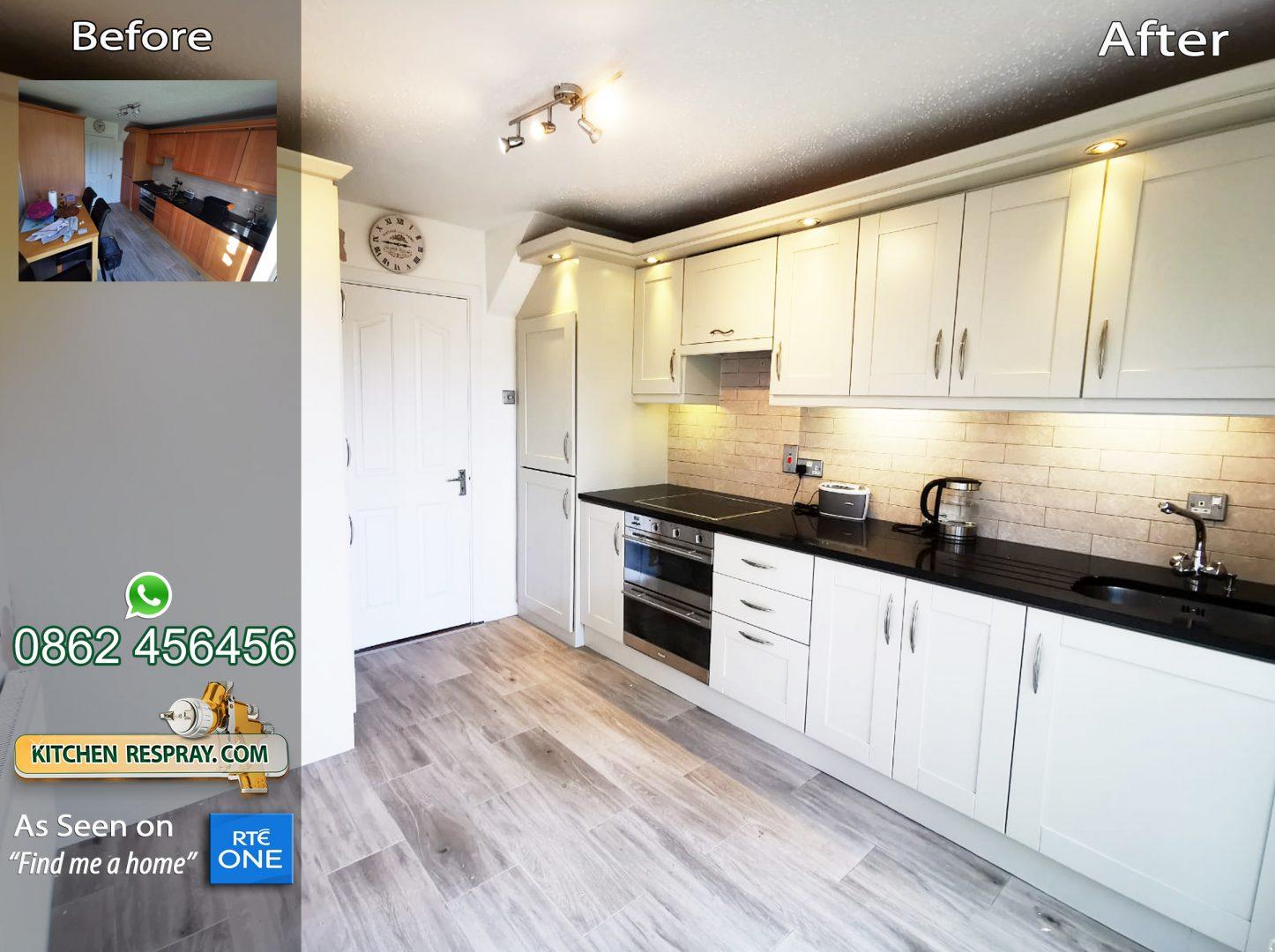 Kitchen Respray Shaded white